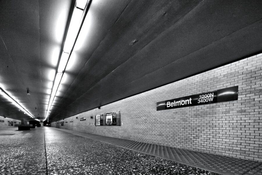 CTA Belmont Blue Line 'L' Stop