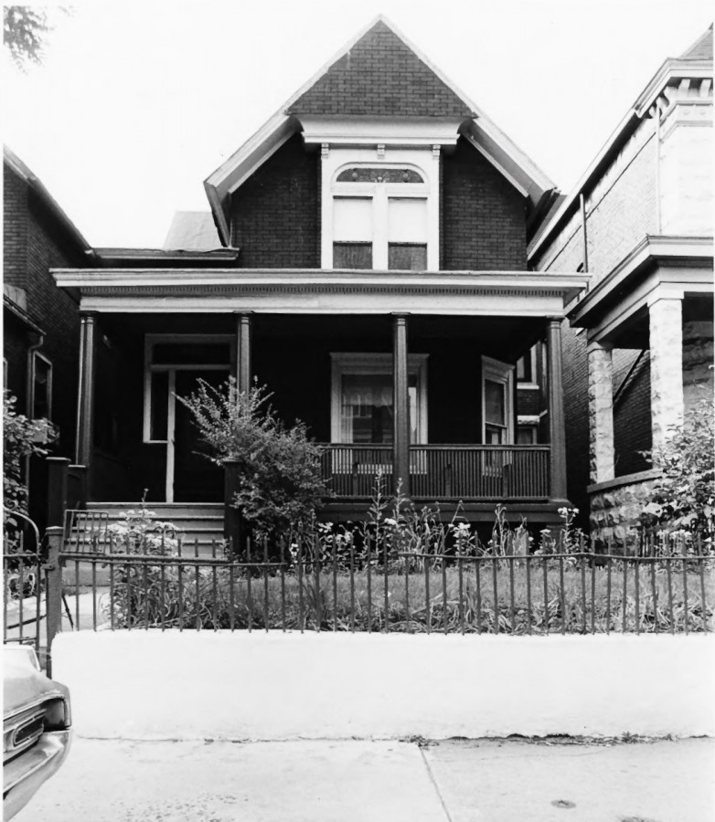 Daniel Hale Williams house in 1974. Image courtesy of National Park Service