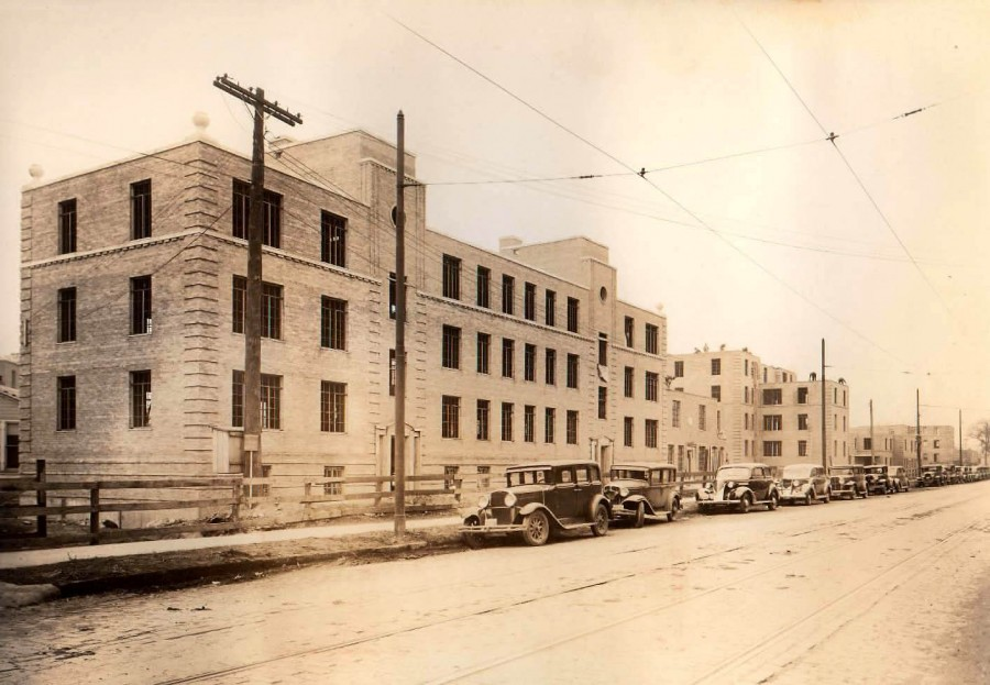 Lathrop Homes during construction in 1937. Photo courtesy of Paul Sajovec