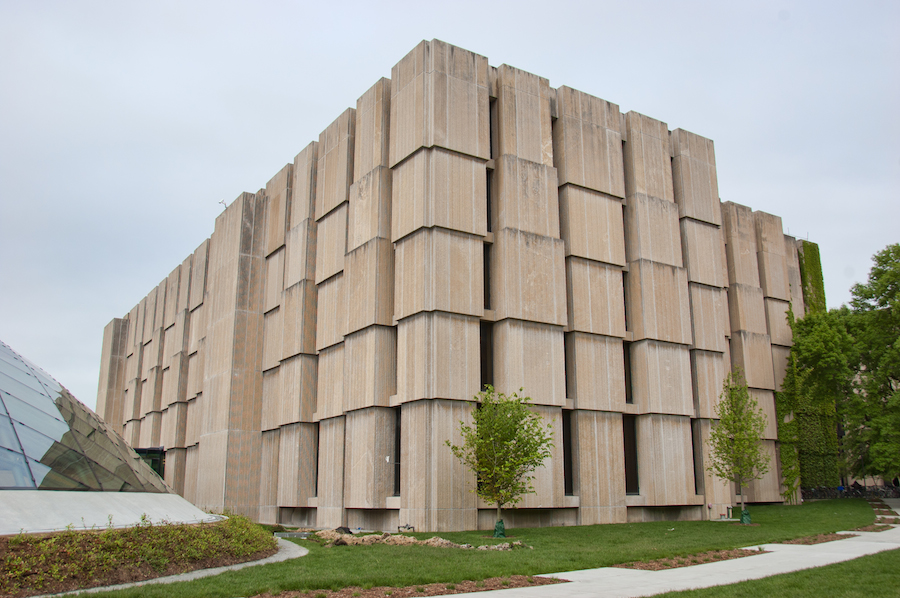 Walter Netsch, Regenstein Library at the University of Chicago, 1970.