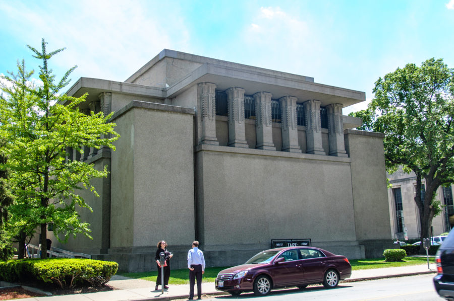 Unity Temple (Frank Lloyd Wright, 1905-08; Oak Park, Illinois)