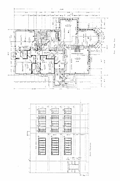Plan of Kenna Apartments, by Barry Byrne. Source: Chicago Landmark Designation Report.