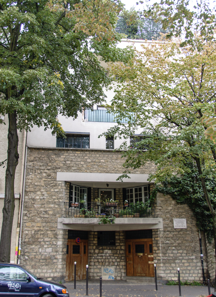 Adolf Loos' Tristan Tzara House, Paris, France, 1926.