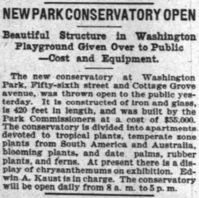 Washington Park Conservatory