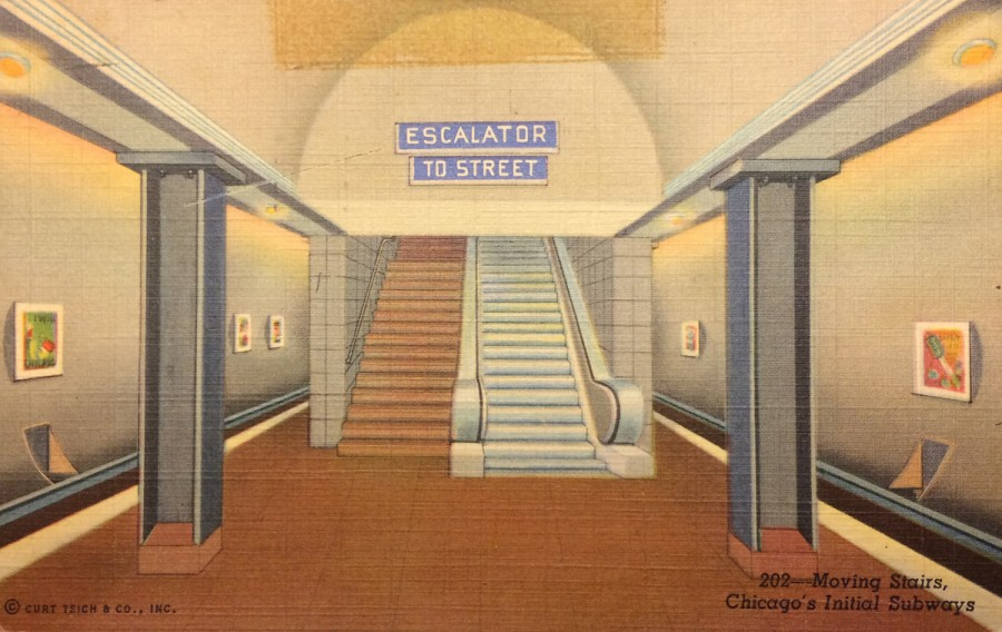 CTA subway postcard front