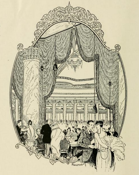 Illustration of Trianon interior, from a Meyer Both Company catalog