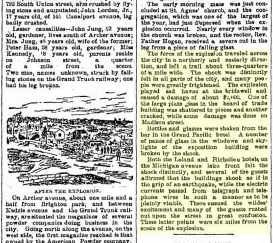 Clipping from August 31, 1886 Freeport Journal-Standard