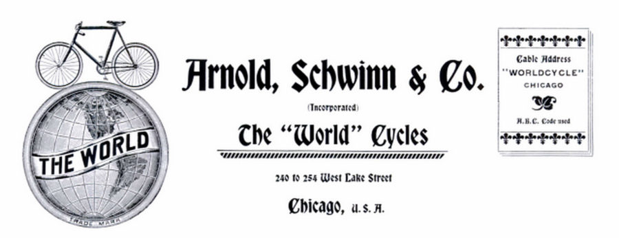 Arnold, Schwinn & Co. letterhead from 1900