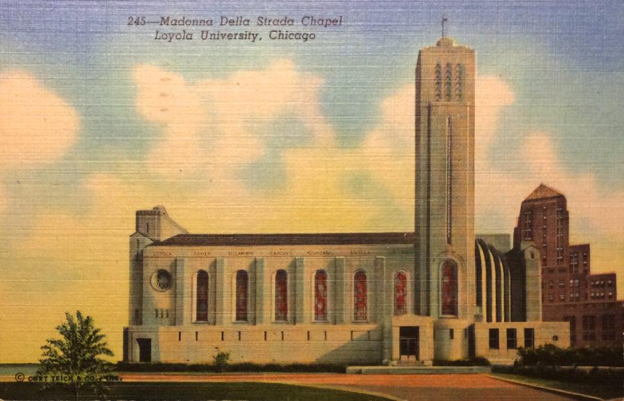 Madonna della Strada Chapel postcard