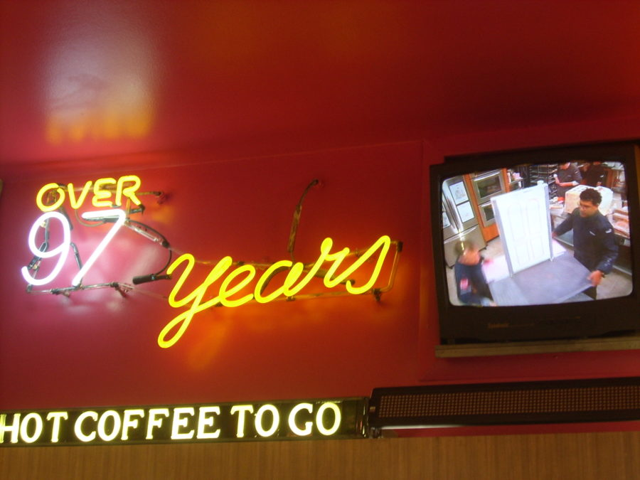 2008 photo showing the neon that is updated every few years. Photo courtesy of Katherine Hodges