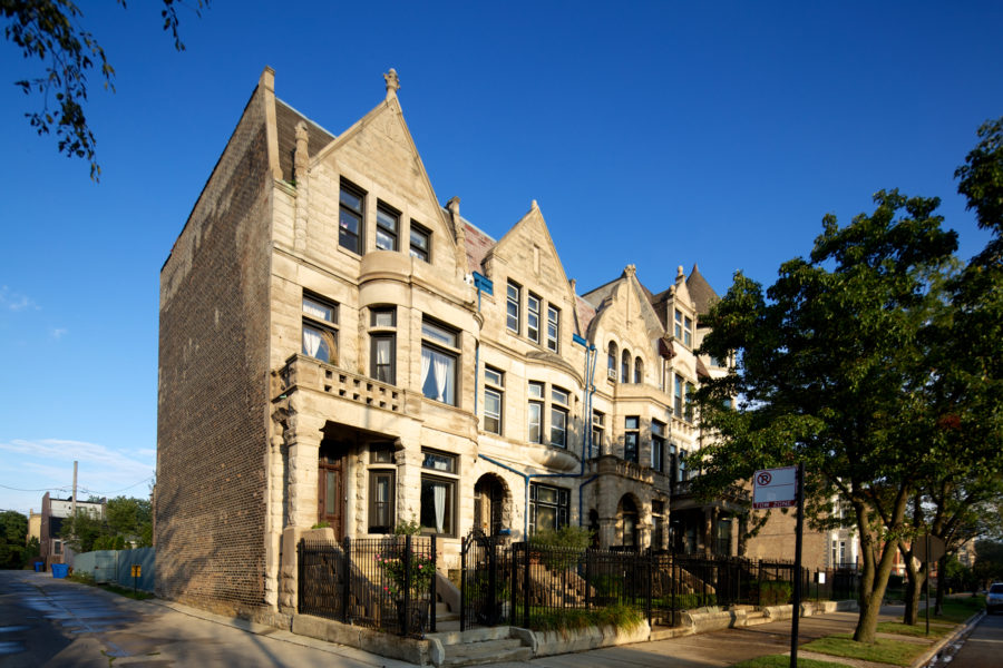 Rowhouses at Drexel and Oakwood Boulevards