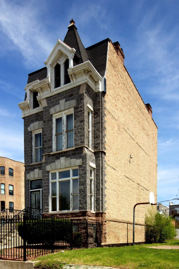 Second Empire styled rowhouse. John Morris/Chicago Patterns