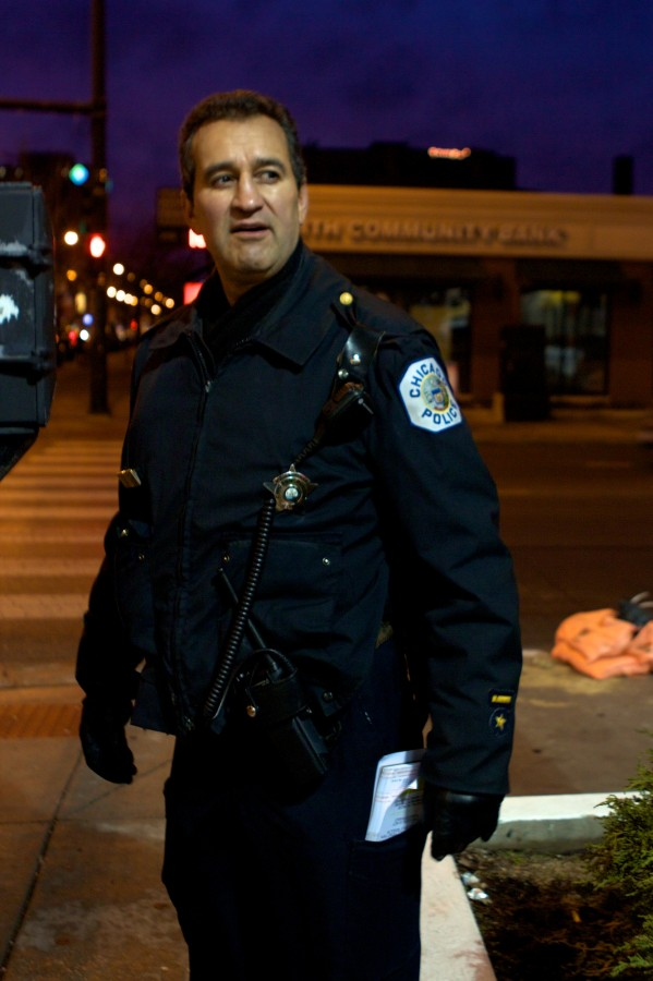 Officer Flores. John Morris/Chicago Patterns