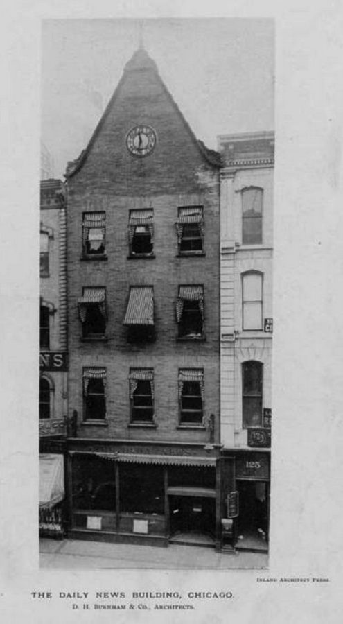 ca. 1896 photo of previous Daily News building, no longer extant.