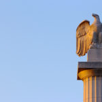 Eagle Atop the Centennial Monument in Logan Square