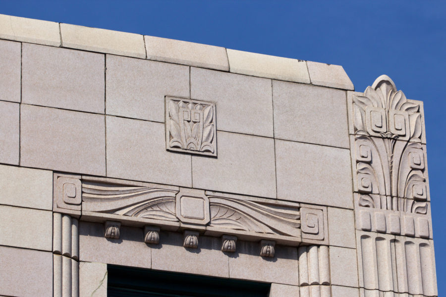 Art Deco detail on Milwaukee Avenue