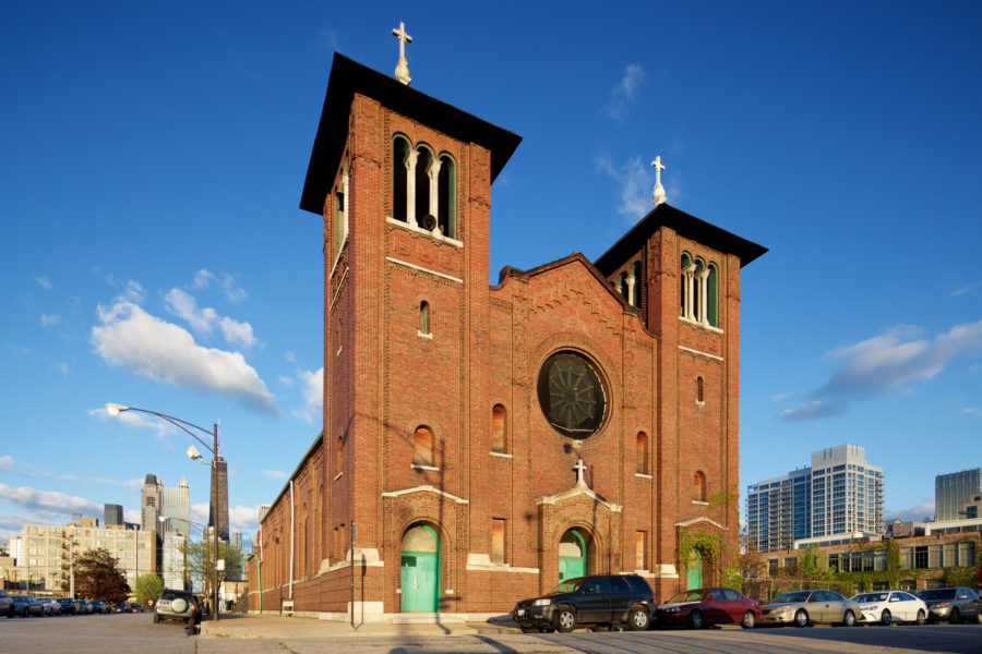 357 West Locust Street - St. Dominic's Catholic Church. [John Morris/Chicago Patterns]