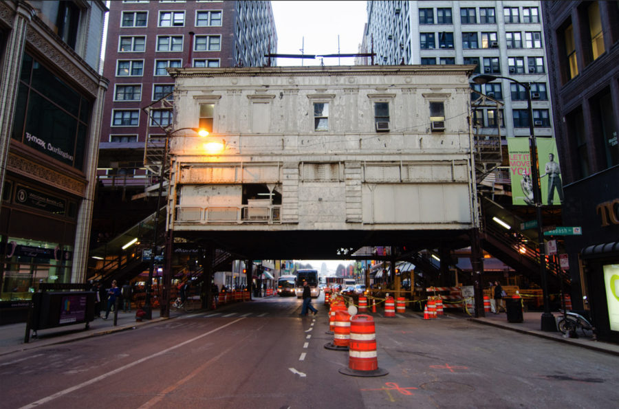Madison and Wabash Station. [Eric Allix Rogers/Chicago Patterns]