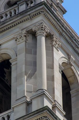 Corinthian column, Shrine of Christ the King Sovereign Priest, 2014. [Eric Allix Rogers/Chicago Patterns]