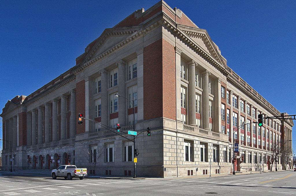Richard T. Crane High School, 2245 West Jackson Boulevard, built 1903.