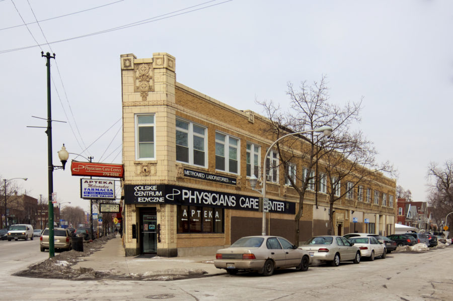 Polskie Centrum Medyczne at Milwaukee and Monticello [John Morris/Chicago Patterns]