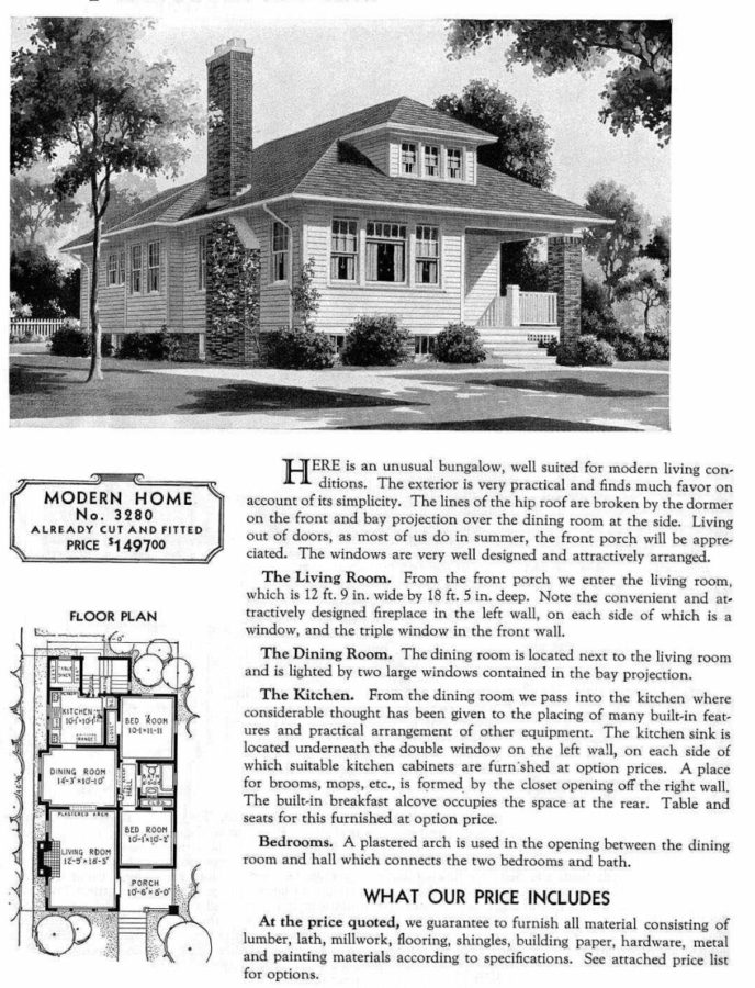 The Collingwood, a late 1920s Bungalow plan from Sears