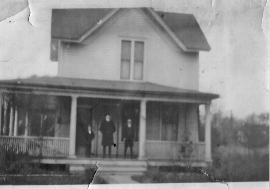 Image of the original house prior to more recent additions, date unknown [Photographer unknown]