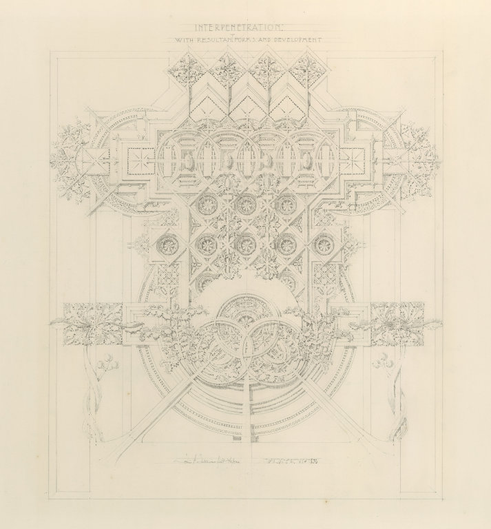 Louis Sullivan drawing from System of Architectural Ornament
