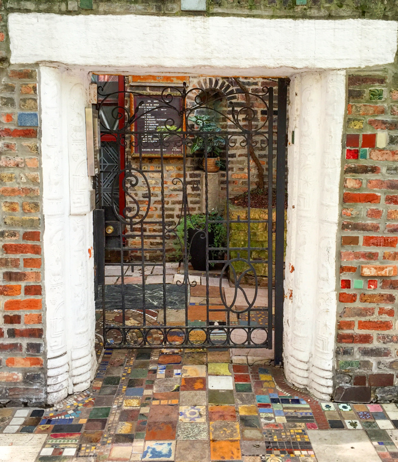 Carl Street Studios gate, Burton Place [Eric Allix Rogers/Chicago Patterns]